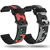 smaate Replacement Band for ID205L Veryfitpro Smart Watch and ID205 ID205U ID205S ID215G, Silicon Watch Strap 205SM6GR (Camouflage Grey-Red, 19mm)