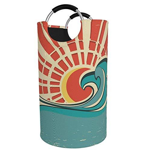 Suzanne Betty Cesto para la colada extragrande de 82 l, con asas de aluminio, para ropa sucia, cesta grande para niños, cesta de almacenamiento redonda para dormitorio