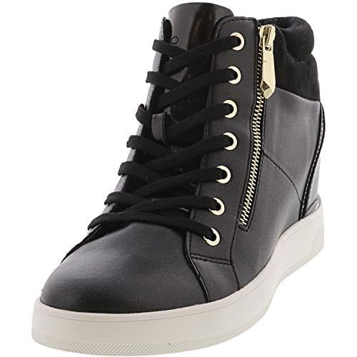 ALDO Women's Ailanna Wedge Sneaker, Black, 9