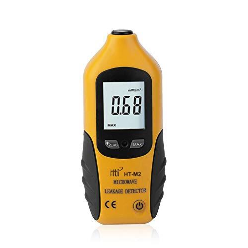 Silverdewi Tester del misuratore di radiazione di Alta precisione del rivelatore di microonda dell\'esposizione di Digital LCD Professionale 0-9.99mW / cm2-nero & Giallo