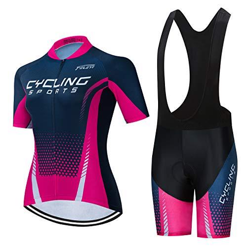 ZGZFEIYU Conjunto Ciclismo Hombre Traje Bicicleta Team Maillot Btt Corta+Culotes 3D Gel...