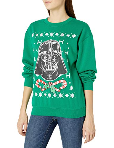 Star Wars Women's Ugly Christmas Crew Sweatshirt, Vader/Green, X-Large