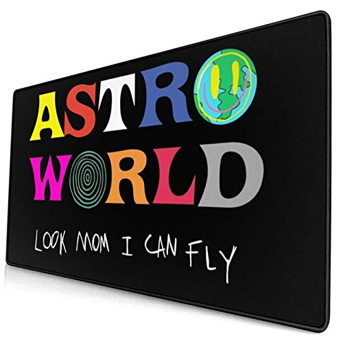 Astroworld Look Mum I Can Fly Tapestry æ‹·è´ Large Video Game Office Game Learning School Gift Computer Lock Edge Table Mat Competitive Mouse Pad.