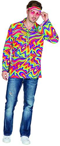 Mottoland Disfraz hippie de los aos 70 para hombre, hippie