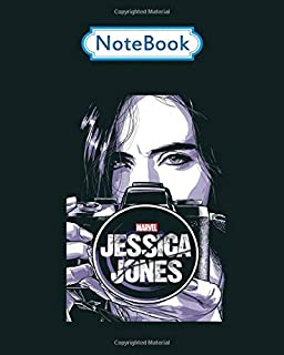 Notebook: marvel jessica jones camera - for men woman Journal/Notebook Blank Lined Ruled 100 pages 8x10 inches