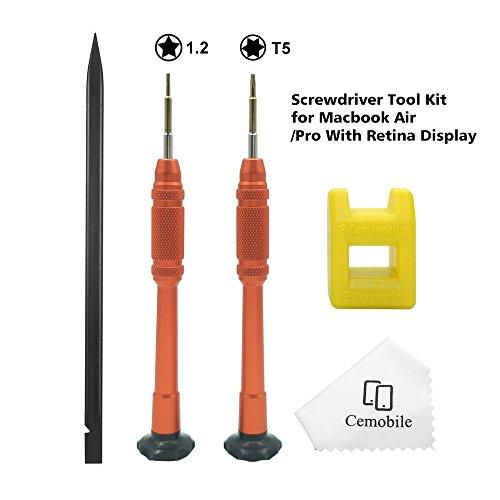 Cemobile MacBook Schraubendreher Set Torx T5 5-Punkt Star 1.2mm Pentalobe Schraubendreher Reparatur Werkzeug Kit für MacBook Air/Pro Retina