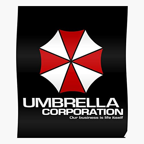 Gamer Business Corporation Apocalypse Evil Logo Gaming Zombie Is Umbrella Our Fictional Life Itself Resident Home Decor Wall Art Print Poster !