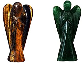 Wonder Care - Pocket Guardian Angel Crystal Gemstone Natural Gemstone Peace Angel Reiki Healing Guardian Angel Figurines C...