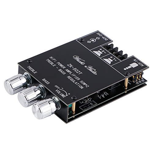 Scheda amplificatore Bluetooth Stereo Hi-Fi 2.0 TPA3116D2 Modulo amplificatore audio 2X50W Controllo bassi e alti Circuito amplificatore digitale Bluetooth 5.0 AMP