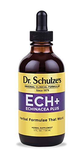 Dr. Schulze's Echinacea Plus | Echinacea Root and Seed | All Organic Extract | Gluten-Free & Non-GMO for Immune System Support | 4 oz.