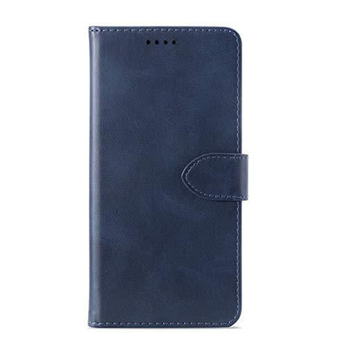 Capa carteira para Umidigi A5 Pro, YZKJ Flip PU elegante capa de couro retrô com fecho magnético compartimentos para cartão de crédito e suporte capa protetora para Umidigi A5 Pro (16 cm) - Azul