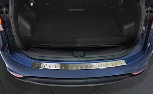 Avisa Protection de seuil arrière inox compatible avec Kia Carens 2012- 'Ribs'