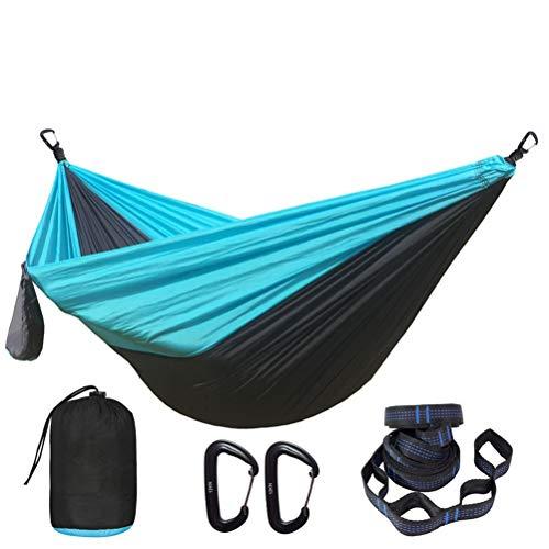 Yousiju Hamaca de paracaídas de Color sólido con Correas de Hamaca y mosquetón de Aluminio Camping Supervivencia Viajes Muebles de Exterior para Dos Personas (Color : D)
