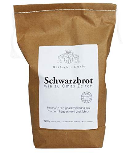 Horbacher Mühle Schwarzbrot Backmischung 1 kg, Brot backen, Brotbackmischung