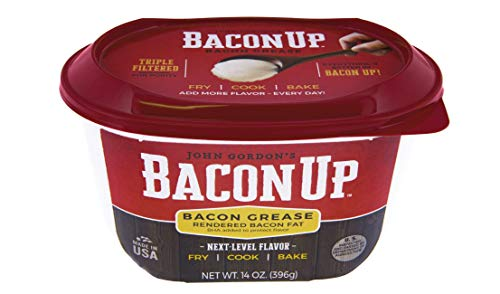 Bacon Up Bacon Grease Rendered Bacon Fat for Frying, Cooking, Baking, 14 ounces