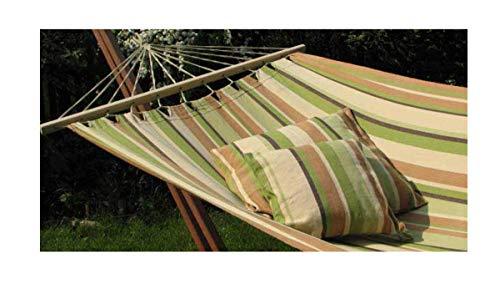 export sal Happy Dream Hangmat, groen, lengte 340 cm, van katoen, met spreidstok zonder frame