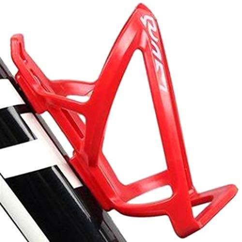 manda Stell Kohlefaser Fahrrad Wasserflaschenhalter verstellbar Fahrrad Mountainbike Käfig MTB Flasche Ultralight Käfig Zubehör, 0, rot