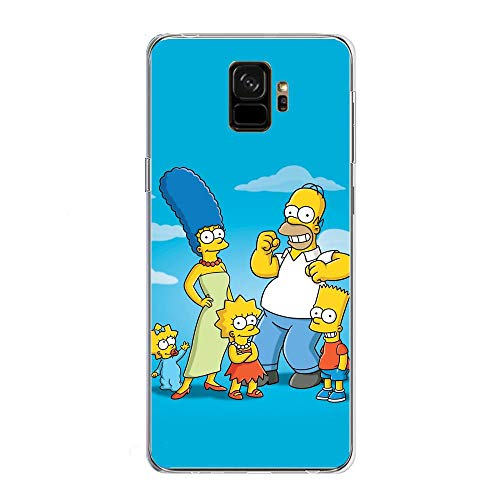Soft Clear Shockproof Thin Durable Flexible Case for Samsung Galaxy S9-The-Simpson Homer-Father 3