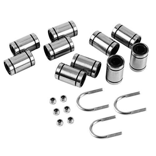 BRIGHTZ 3D-Druckerteil, 3D-Druckerzubehör, 10 Bearings + 3 + U-Bolzen 6 M3 Verriegelungsschrauben Kit for 3D-Druckerteile Drucker