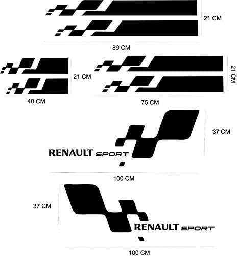 Stickers Couleur AU Choix Kit Autocollant adh/ésif Renault Sport Cup