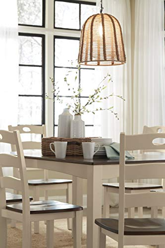 Signature Design by Ashley Woodanville Dining Room Table and Chairs (Set of 7), Cream/Brown