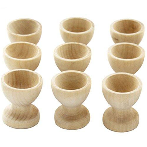 Panlom® Lot 4 coquetiers en bois naturel à peindre et décorer soi-même