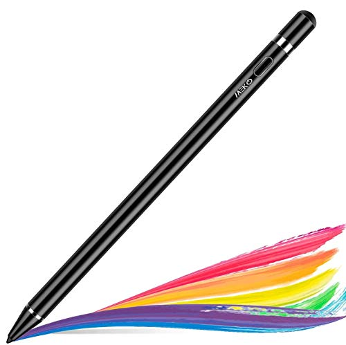 MEKO Verbesserte Stylus Stifte für Apple iPad mit Palm Rejection Funktion, kompatibel mit iPad Pro 11/12.9 Zoll, iPad 6. Gen/Air 3. Gen/Mini 5. Gen wiederaufladbarer digitaler Eingabestift (Schwarz)