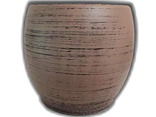 Der Perlenspieler® - Kerzenschmelzer-Tischlicht in Holz-Optik für kleine Tische und Balkone-3 mm Glasfaserdocht-10,5 cm x 10,5 cm