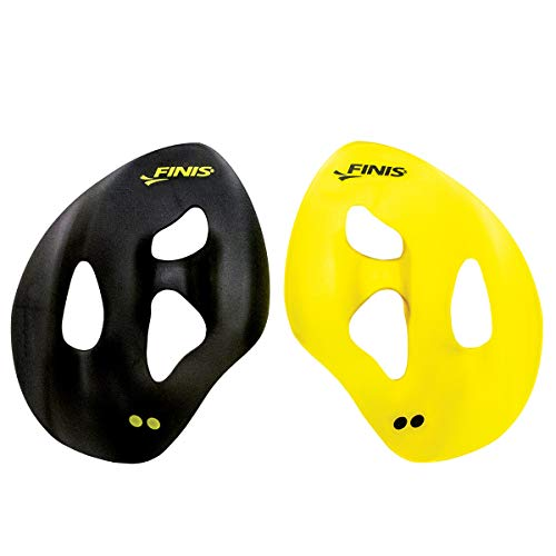 Finis Erwachsene Iso Swim Hand Paddles, Yellow/Black, M