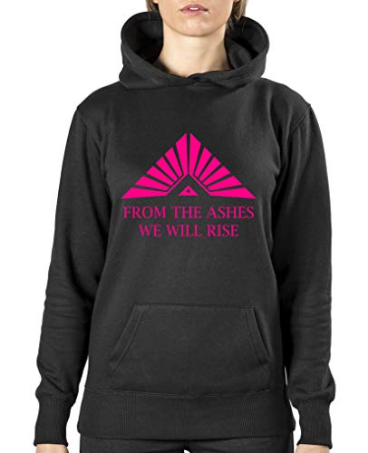 Comedy Shirts The Ashes we Will Rise Sweat à capuche pour femme - Noir - XXL