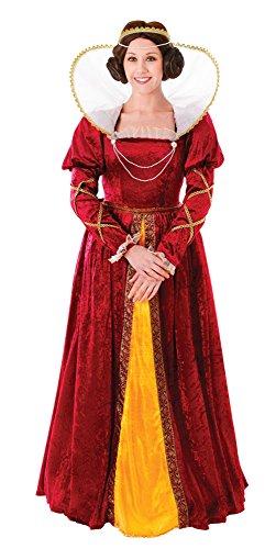 Bristol Novelty AC482 Königin Elisabeth Kostüm, Gold, UK 10-14