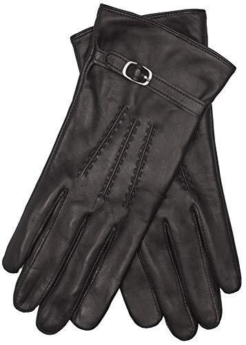 EEM Damen Leder Handschuhe LEA mit Touch-Funktion aus Lammnappaleder, smartphone; schwarz, M