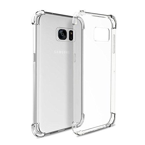 REY Funda Anti-Shock Gel Transparente para Samsung Galaxy S6, Ultra Fina 0,33mm, Esquinas Reforzadas, Silicona TPU de Alta Resistencia y Flexibilidad, Anti Golpes