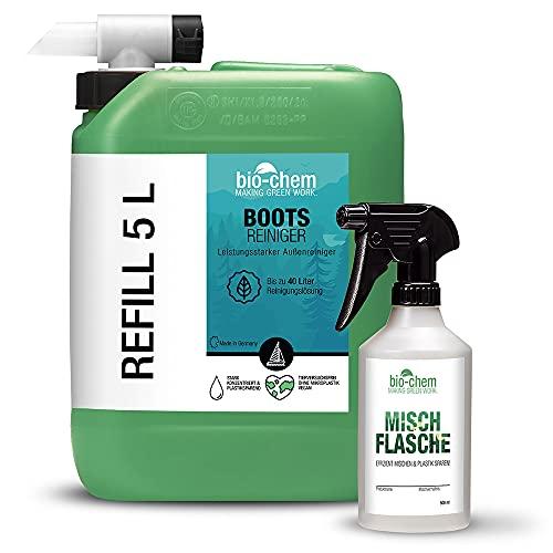 Bio-Chem - Limpiador concentrado para barcos, yates, kayak, etc. (5) 5 litros (bidón + pulverizador de bomba a presión)