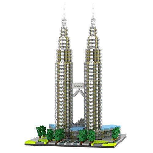Wtbew-u Nano Micro Blokken Bouw Speelgoed Bouwblok Set, Wereld Beroemde Landmark 3D Puzzel