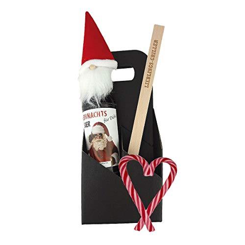 3-teiliges Geschenkset/Grillzange mit Gravur zum Auswählen/Weihnachts-Bier/Männergeschenk/Grillen/Weihnachten, Grillzange:Jürgen