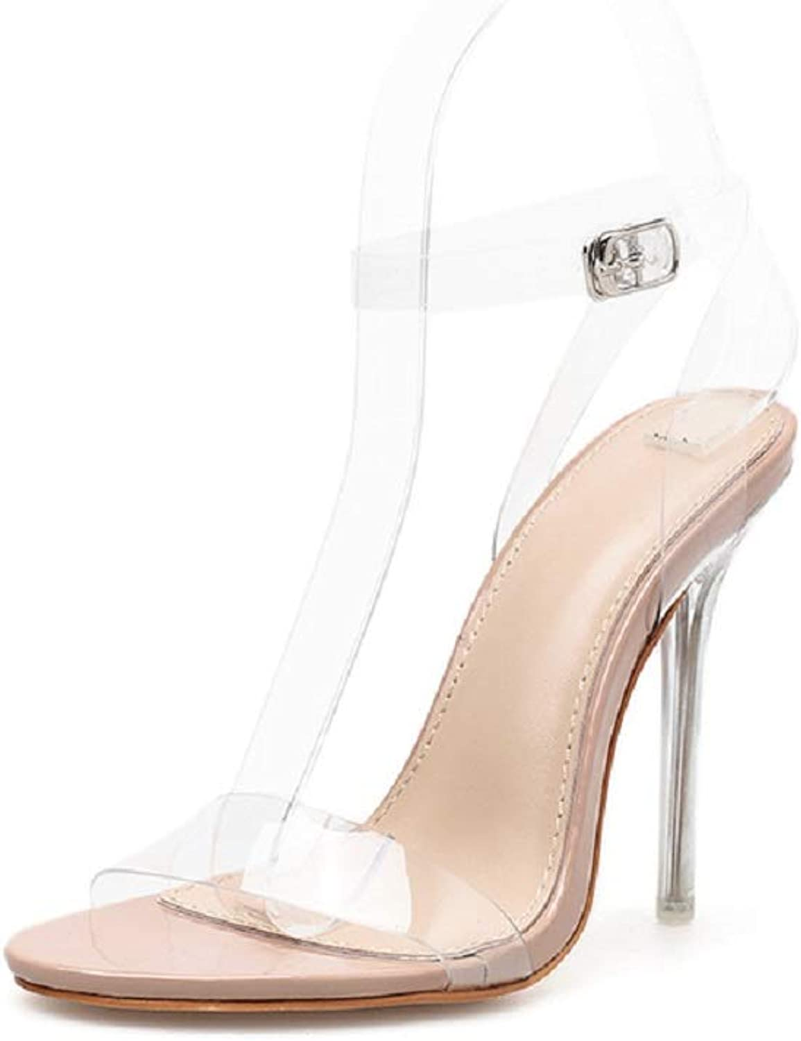 Women's Sandals - Scotch Glue with Stiletto High Heel Sexy shoes