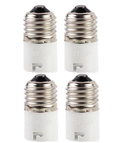 SFTlite 4x Adaptateur base de lampe converter E27 douille à B22 base de la lampe pour lampes à LED, halogène, à économie d'énergie