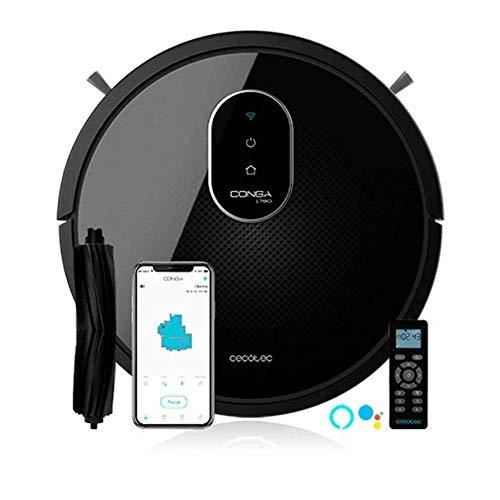 Cecotec Conga 1790 Ultra - Robot aspirador y fregasuelos iTech SmartGyro, friega, aspira y Barre a la vez, 2100Pa, App con Mapa, Cepillo para Mascotas, Alexa & Google Assistant, Muro magnético