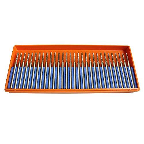 Oudtinz - Confezione da 30 punte da trapano per gioielli, conchiglie in vetro, 1 mm, confezione da 1 mm, 30 pezzi