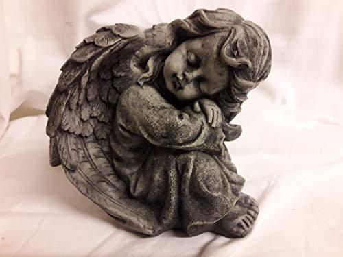 Piedra Figura pequeño ángel alas Busto