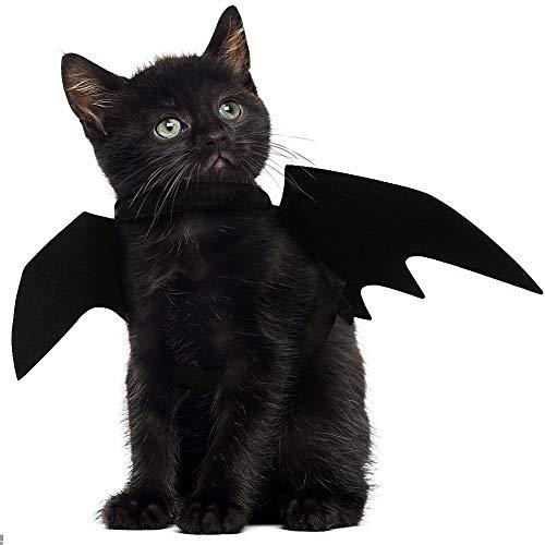 JDYW Disfraz de Gato Mascota Alas de murciélago para Perros Disfraz de...