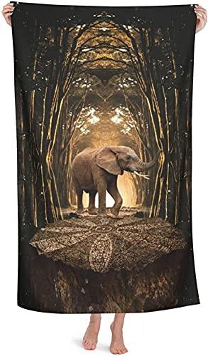LUYIQ Toalla de Playa Grandes de Antiarena de Microfibra para Hombre Mujer, Escultura Elefante -150x70cm, Toallas Baño Secado Rapido para Piscina, Manta Playa, Toalla Yoga Deporte Gimnasio