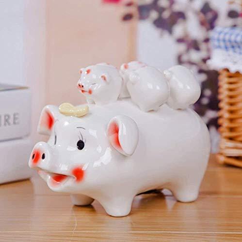Escultura, Precioso cerdo de cerámica y cerdo, Decoración de cerámica Decoración de cerámica, Regalo de cumpleaños,A