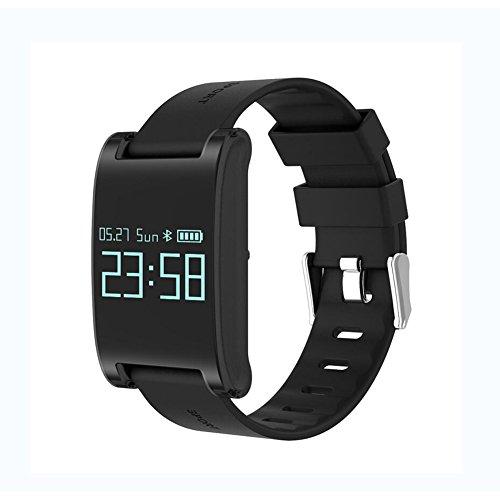 Lirong Smart-armband met hartslagmeter, met breedbeeld-bloeddruk, bloedzuurstof, sport, stappenteller, waterdicht, geschikt voor Android-platform, Apple iOS platform