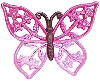 Farfalla in Ceramica Da Appendere - Farfalla Da Parete - Da collezione - Grande - Fuxia - Dipinta a mano - Le Ceramiche De...