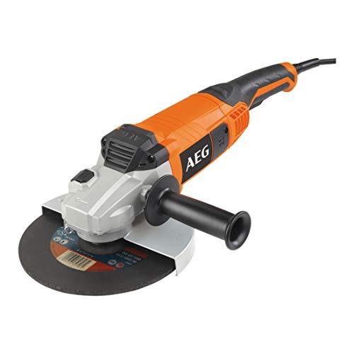 AEG 4935431720 Winkelschleifer WS 22-230 E, 2200 W, 18 V, Schwarz, Orange