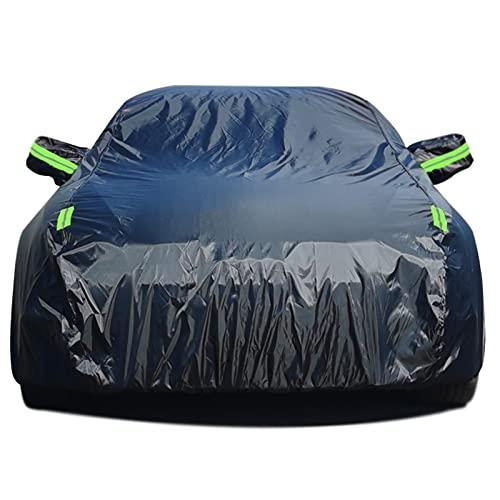 Cubierta de Coche Compatible con Maserati Granturismo Grancabrio Garaje Completo Lona para Coche Cinturón a Prueba de Viento Láminas de protección contra el Hielo (Color : Black, Size : Grancabrio)