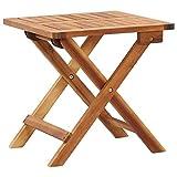 vidaXL Solid Acacia Wood Folding Garden Coffee Table Outdoor Tea Side Stand Patio