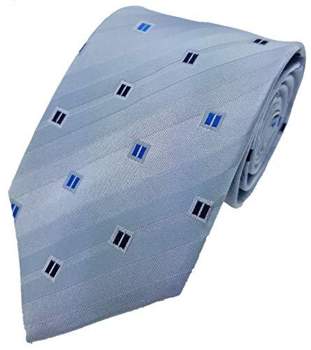 Silk Ties corbata de seda cajita 8 cm, Krawatten Seide Kästchen 8 cm Kiste 3:Azul Claro